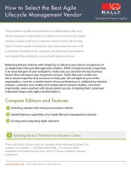 How to Select the Best Agile Lifecycle Management ... - Rally Software