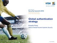 Global authentication strategy - Visa Asia Pacific