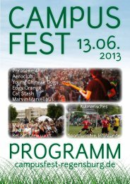 Programmheft - Campus Regensburg eV