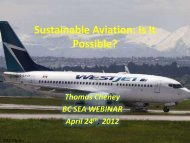 Can we make Aviation Sustainable? - BC Sustainable Energy ...