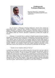 Conférence du Professeur Belpomme - Grasse