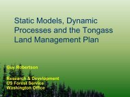 Static Models, Dynamic Processes and the Tongass Land ...