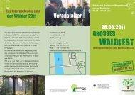 WALDFEST - Treffpunkt Wald