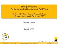 Strong Interactions in Continuum and Lattice Quantum Field Theory ...
