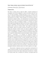Núcleo Política, sociedad y cultura en la historia reciente del Cono ...