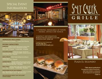 View Our Brochure - Salt Creek Grille