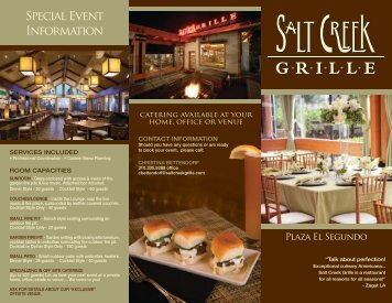 View Our Brochure - Salt Creek Grille