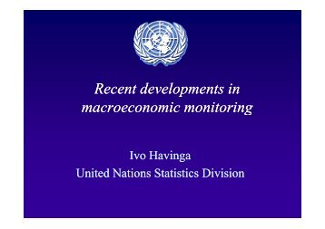 Recent developments in Recent developments in macroeconomic ...
