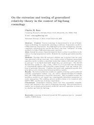 On the extension and testing of generalized relativity theory in the ...