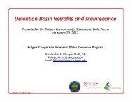Detention Basin Retrofits and Maintenance - Rutgers Cooperative ...