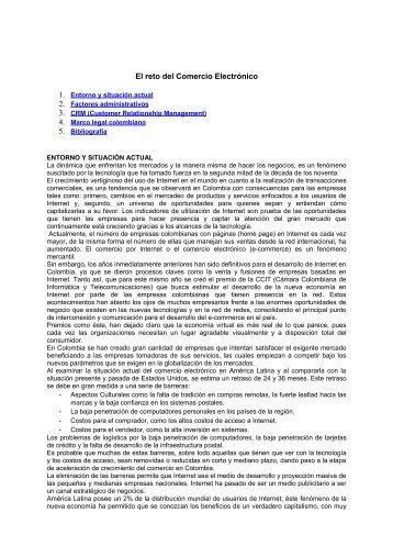 EL RETO DEL COMERCIO ELECTRÓNICO - Biblioteca