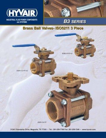 Brass Ball Valves-5211 3 Piece - Hyvair