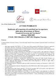 AVVISO PUBBLICO finalizzato all'erogazione di contributi per la ...