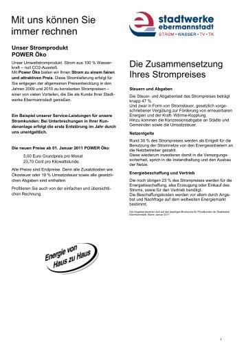 Mit uns können Sie immer rechnen - Stadtwerke Ebermannstadt