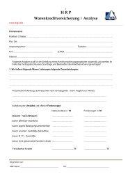 Kreditversicherungsanalysebogen - Heyd, Reims & Partner GmbH ...