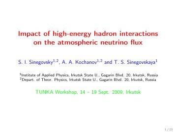Impact of high-energy hadron interactions on the atmospheric ...