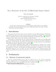 On a Structure of the Set of Differential Games Values
