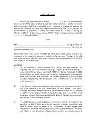 1 AGREEMENT FORM ARTICLES of Agreement made on this day of ...