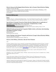 Annotated Bibliography on Shared decision making and ... - People