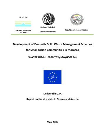 Report on the site visits in Greece and Austria - Unit of ...