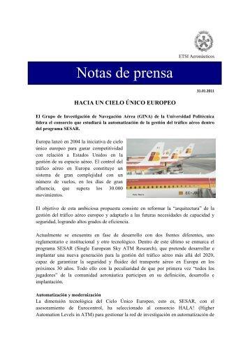Hacia un Cielo Único Europeo - ETSIA - Universidad Politécnica de ...