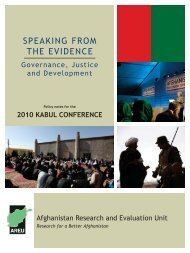 SPEAKING FROM THE EVIDENCE - the Afghanistan Research and ...