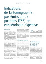 Indications de la tomographie par émission de positons (TEP) en ...