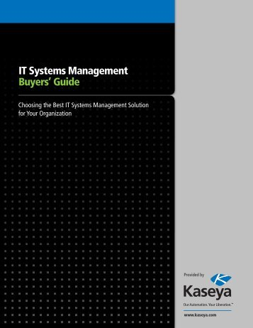 IT Systems Management Buyers' Guide - Kaseya