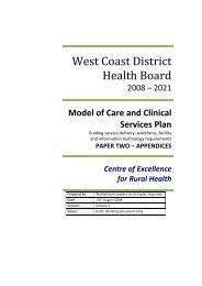 Buller - Appendix 5 appendices 1-6 - West Coast District Health Board