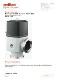 Produkt-Information Eckventile mit ISO-K-Flanschen DN 100 ISO-K ...