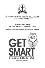 Guidelines For Antimicrobial Therapy-2011 - Safdarjung Hospital