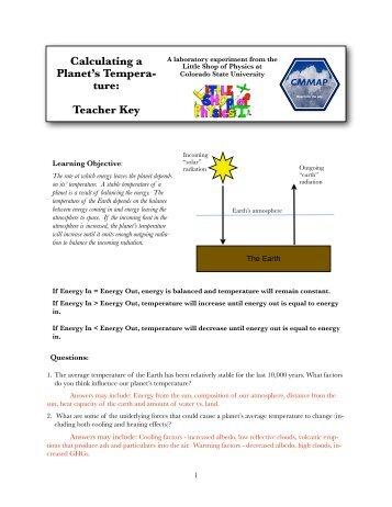 How does climate change? TEACHER KEY - cmmap