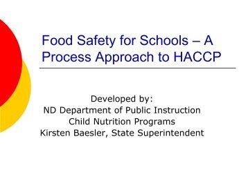 A Process Approach to HACCP - North Dakota Department of Public ...