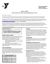 Registration Form - YMCA of Greater Charlotte