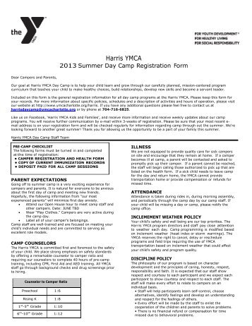 Registration Form - YMCA of Greater Charlotte