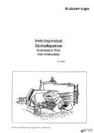 lnstru ksjonsbok Storballepakker - Hjallerup Maskinforretning A/S