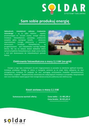 Zestaw ENEDOM 2.1 kWp - Soldar