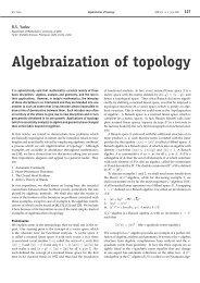 Algebraization of topology