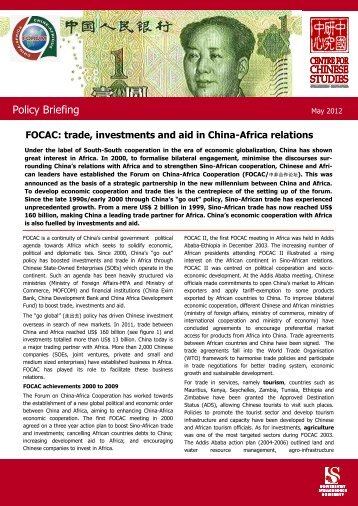 FOCAC: trade, investments and aid in China-Africa relations