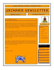 GRIMMER NEWSLETTER - Grimmer Middle School - Lake Central ...