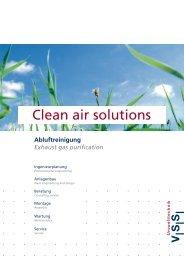Clean air solutions - VSS-Umwelttechnik GmbH