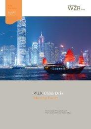 Newsletter - Ausgabe Januar 2014 - WZR China-Desk