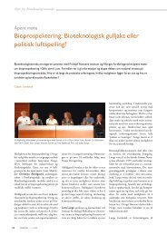 Bioprospektering: Bioteknologisk gulljakt eller politisk luftspeiling?