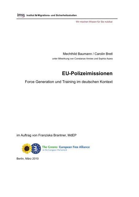 EU-Polizeimissionen - Franziska Brantner