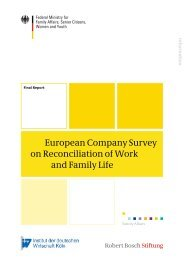 European Company Survey on Reconciliation of Work and Family Life
