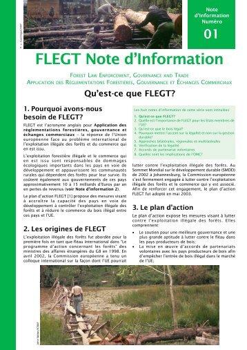 Qu'est-ce que FLEGT? - Illegal Logging Portal