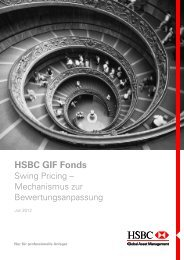 HSBC GIF Fonds - HSBC Global Asset Management
