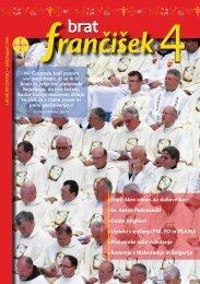Urednikova beseda bf 4/2010 - Frančiškani v Sloveniji