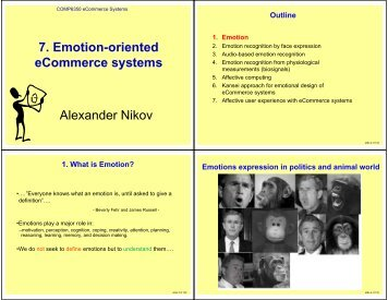 7. Emotion-oriented eCommerce systems Alexander Nikov - Home