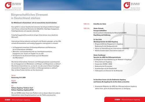 Bürgerschaftliches Ehrenamt in Deutschland stärken - A3 ...
